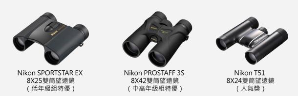 望遠鏡列表(由Nikon總代理 國祥貿易獨家贊助)